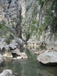 el cañon desde el rio gaudiaro