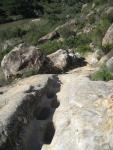 huellas del paso en la piedra